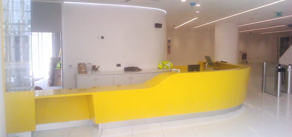 Bespoke Reception Desks Area Counter Nottingham