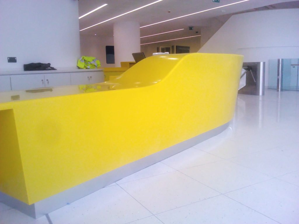 Bespoke Reception Desk ADL Joinery Bespoke Counter Design Manufacture