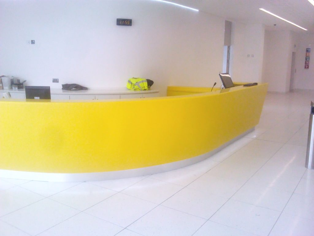 Reception ADL Joinery Bespoke Reception Desk