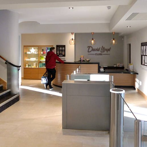 ADL Joinery David Lloyd Reception Desk Joinery Services
